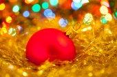 Kırmızı Noel top — Stok fotoğraf