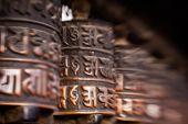 Roues de prière au népal — Photo
