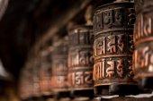 ネパールでの祈りの輪 — ストック写真
