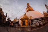 View of Swayambhunath at night — Stok fotoğraf