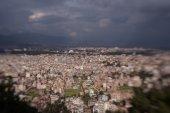 Kathmandu city from Swayambhunath temple — Stock Photo