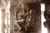 Ancient stone carvings in Varadaraja Temple — Stock Photo