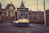 The tram stop near Centraal station. — Stock Photo