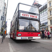 Bus at Checkpoint Charlie. — Stock Photo