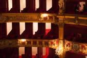 Внутри зале La Monnaie оперы Бельгии — Стоковое фото