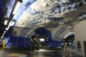 Stanice metra Stockholm T-Centralen — Stock fotografie