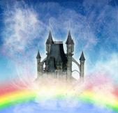 Castle in the sky — Stock Photo
