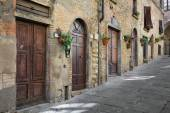 Typical street in Tuscany, Italy — Stock Photo