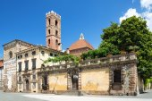 The historic center of Lucca, Tuscany, ITALY  — Stock Photo