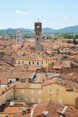 Panorama of Lucca. Tuscany. Italy. — Stock Photo