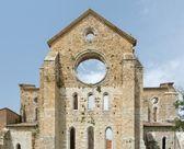 Old Gothic abbey - Abbey of San Galgano, Tuscany, Italy  — Photo
