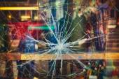 Broken shop window — Stock Photo