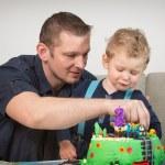 Little boy celebrating second birthday — Stock Photo #69639457
