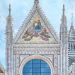 Detail of facade of Siena Cathedral (Duomo di Siena), Siena, Italy — Stock Photo #75310165