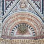 Detail of facade of Siena Cathedral (Duomo di Siena), Siena, Italy — Stock Photo #75310175