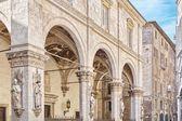 """Casa Nota """"Loggia della Mercanzia"""" a Siena Italia — Foto Stock"""