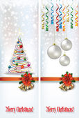 Abstract celebration greetings with Christmas illustrative eleme — 图库矢量图片