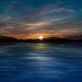 森湖と抽象的な背景 — ストックベクタ