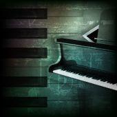 Fundo de piano abstrato grunge com piano de cauda — Vetor de Stock