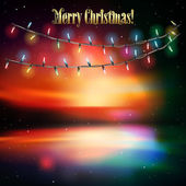 Abstract background with Christmas lights — Stock Vector