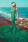 Beautiful nymph on the sea — Stockfoto