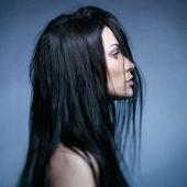 Kunst portret van een mooie jonge dame — Stockfoto
