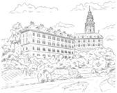 Palace Cesky Krumlov  — Stock Vector