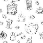 Pattern of cofee set — Stock Vector