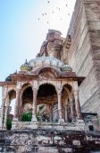 Different parts of Mehrangarh Fort, Rajasthan, Jodhpur, India — Stock Photo