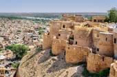 Birds eye view of Jaisalmer city from Golden Fort of Jaisalmer, — Stock Photo