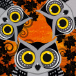 Halloween background with owls. — Stock Vector #51892263