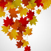 Abstract background with autumn colorful leaves. — Stockvektor