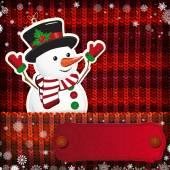Weihnachts-dekorationen auf handgefertigt gestrickte hintergrund. — Stockvektor