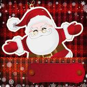 圣诞装饰品手工针织背景上. — 图库矢量图片