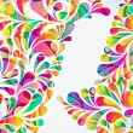 fond abstrait coloré arc-goutte. Vector — Vecteur