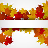 Abstract background with autumn colorful leaves. — Stock Vector