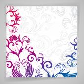 Abstract vector floral background with oriental flowers. — Stock Vector