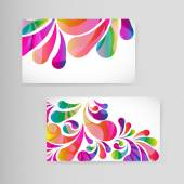 Sample business card with bright teardrop-shaped arches. — Stock Vector