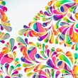 Abstract colorful arc-drop background. Vector. — Stock Vector #54893251