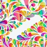 fondo abstracto colorido arco-gota. Vector — Vector de stock  #55058019