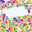 Abstract colorful arc-drop background. Vector. — Stock Vector #55950081