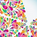 fondo abstracto colorido arco-gota. Vector — Vector de stock  #56315761