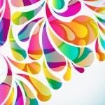 fondo abstracto colorido arco-gota. Vector — Vector de stock  #58514107