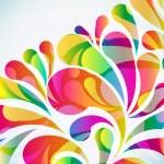 fondo abstracto colorido arco-gota. Vector — Vector de stock  #58929251