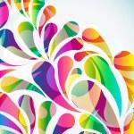 fondo abstracto colorido arco-gota. Vector — Vector de stock  #59580877
