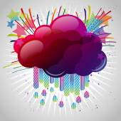 Abstract background with design elements. Cloud for your text, s — Stock vektor