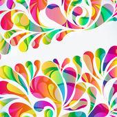 Abstrakt färgglada arc-släpp bakgrund. vektor. — Stockvektor