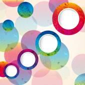 Abstract design circles background. vector — Stock Vector