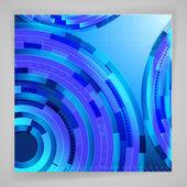 Modré pozadí abstraktní s techno prvky. — Stock vektor