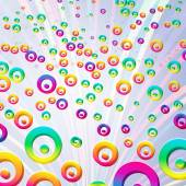 Abstract colorful bubbles background. Vector. — Stock Vector